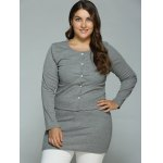 cheap Buttoned Cardigan and Bodycon Tank Dress
