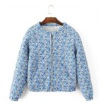 Quilted Floral Print Jacket