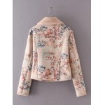 cheap Floral Print Furred Jacket