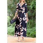 Butterfly Print Maxi A Line Dress deal