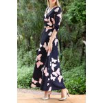 Butterfly Print Maxi A Line Dress photo