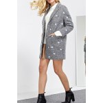 cheap Embroidered Lapel Wool Blend Coat