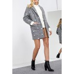 Embroidered Lapel Wool Blend Coat deal