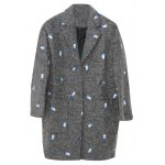 best Embroidered Lapel Wool Blend Coat