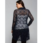 Collarless Cut Out Lace Blouse for sale