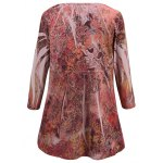 Plus Size Ornate Printed Blouse deal