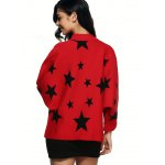 Star Pattern Knitted Cardigan for sale