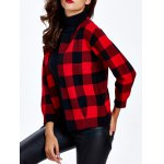 cheap Collarless Plaid Slimming Cardigan