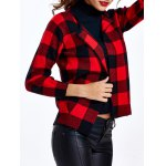 Collarless Plaid Slimming Cardigan deal