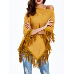 cheap Asymmetrical Fringed Loose-Fitting Knitwear