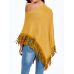 Asymmetrical Fringed Loose-Fitting Knitwear deal