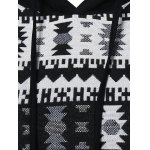 Geometric Pattern Front Pocket Hoodie for sale
