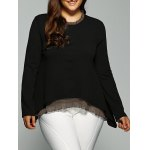 Buy High-Low Layered Blouse 3XL