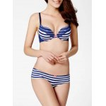 Striped Lace Push Up Bra Set deal
