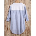 Long Sleeves High Low Patchwork T-Shirt deal