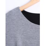 Long Sleeves Asymmetric Faux Twinset T-Shirt deal