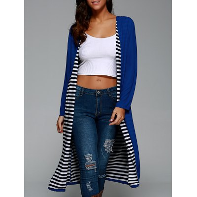 Striped Lined Long Coat