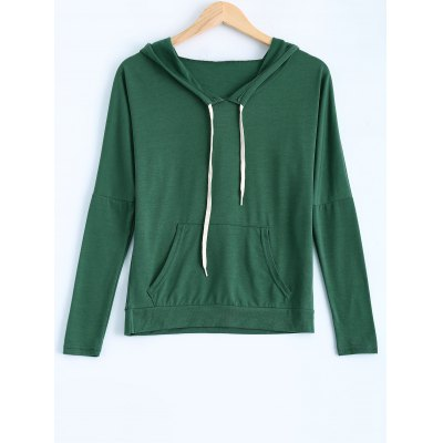 Candy Color Hooded Long Sleeve Hoodie