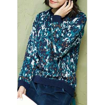 Colormix Knitted Long Sleeve Sweater