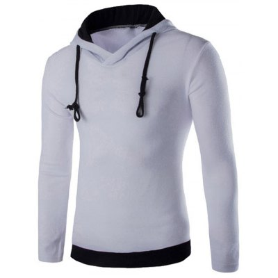 Contrast Trim Pullover Hoodie