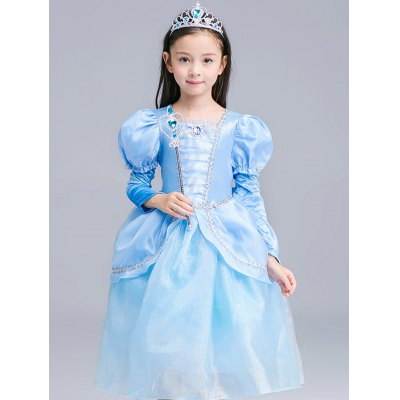 Fairy Tale Dress Kids Halloween Princess Cosplay DressGirls Clothing<br>Fairy Tale Dress Kids Halloween Princess Cosplay Dress<br><br>Style: Novelty<br>Material: Polyester<br>Silhouette: Ball Gown<br>Dresses Length: Mid-Calf<br>Neckline: Round Collar<br>Sleeve Length: Short Sleeves<br>Embellishment: Bowknot<br>Pattern Type: Patchwork<br>With Belt: No<br>Season: Summer<br>Weight: 0.375kg<br>Package Contents: 1 x Dress  1 x Gloves