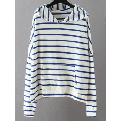 Pocket Striped Sweatshirt