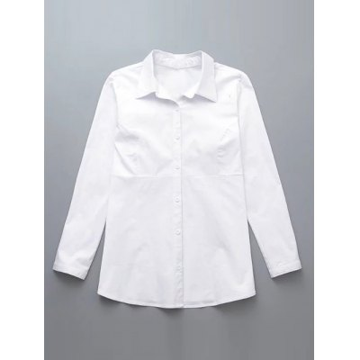 Plus Size Buttoned Back Ruched Shirt