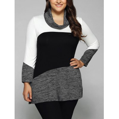 Cowl Neck Heathered Blouse