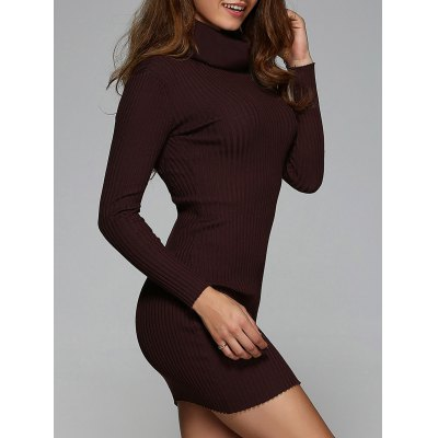 Ribbed Skinny Stretchy Dress