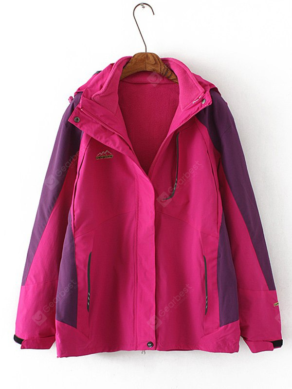 Plus Size Flocking Hooded Jacket 5XL