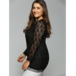 Plus Size Long Sleeve Lace Tee deal