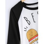Cartoon Pattern High Low T-Shirt deal