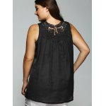 Lace Spliced V Neck Chiffon Blouse for sale