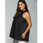 Lace Spliced V Neck Chiffon Blouse deal
