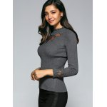 Ruffled Rhinestone Embellished Hollow Out Knitwear deal