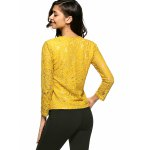 Slim Openwork Floral Lace Blouse deal