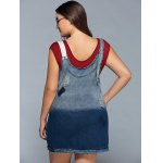 best Pinafore Ripped Denim Plus Size Dress