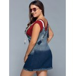 Ripped Denim Plus Size Pinafore Dress for sale