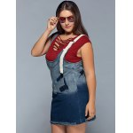 Ripped Denim Plus Size Pinafore Dress deal