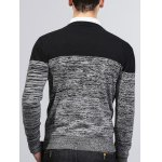 Crew Neck Color Block Splicing Knit Blends Sweater for sale