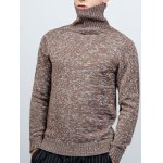 cheap Roll Neck Long Sleeve Knit Blends Sweater