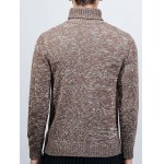 Roll Neck Long Sleeve Knit Blends Sweater deal