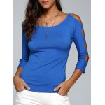 Cut Out Stretchy Slimming T-Shirt