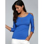 cheap Cut Out Stretchy Slimming T-Shirt