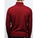 best Roll Neck Kink Design Long Sleeve Sweater
