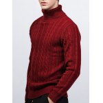 Roll Neck Kink Design Long Sleeve Sweater deal