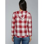 Kangaroo Pocket  Plaid Pattern Hoodie for sale