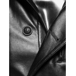 Stand Collar Single-Breasted Zip-Up PU-Leather Jacket for sale
