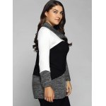 Plus Size Cowl Neck Heathered Blouse deal