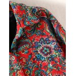 Plus Size High Low Floral Print Coat deal